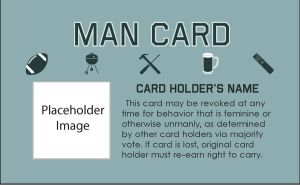 Blank Man Card by TresMaxwell