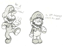 Yay For Me, Luigi! by AgentDajo