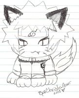 Naruto Fox pen doodle by NarutoHinataLuvr