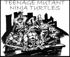tmnt sharpie exercise by twotonearmy