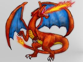 Tablet Charizard Practice by WforWumbo