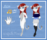Aria (Fursona) Reference by xInfiniteMusic