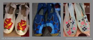 Customized/Hand-painted Espadrilles2 by suirinomoshi
