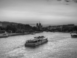 Seine River BnW by BluePalmTree