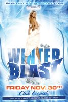 Winter Blast Party Flyer by Alucard309