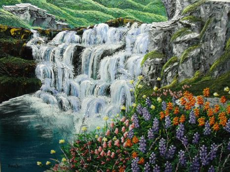 Flowery Falls by DonBowling
