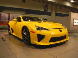 Frontal view of Lexus LFA by Partywave