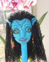 Crochet Avatar Neytiri BJD in Progress by peggytoes