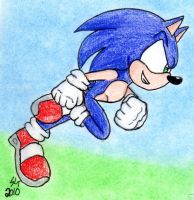 Sonic Running Colored WB by Lousin-Almasd