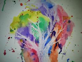 Watercolor tree by feelingdirectionless