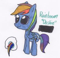 Rainboom [Dashie] (Oc) (filly) by Piplup88908