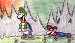 Super Mario Bros Z 6 Scene 2 by zealthebat