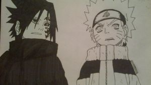 Sasuke and Naruto by Epicmisaki