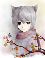 One autumn day by ShiroiKitsune-san