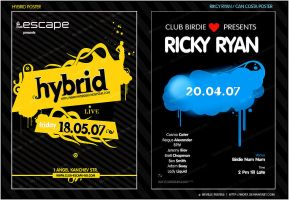 Hybrid and Ricky Ryan Flyer by nofx