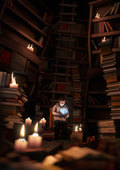 Library of Wisdom by TheFunnyKep