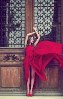 Lady in red by DoraLovey