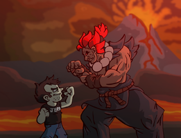 Dan VS Akuma by TheTitan99