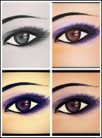 Purple shadow for brown eyes by Vallia