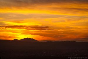 Orange clouds by isotophoto