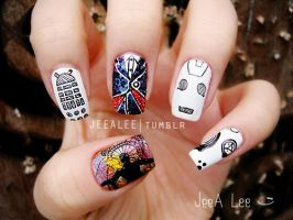 Doctor Who Nails | The Twelfth Doctor by jeealee
