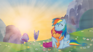 Rainbow And Scootaloo II by AeliosZero