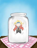 Chibi Ed and the Milk Bottle [2] by FlorideCuts