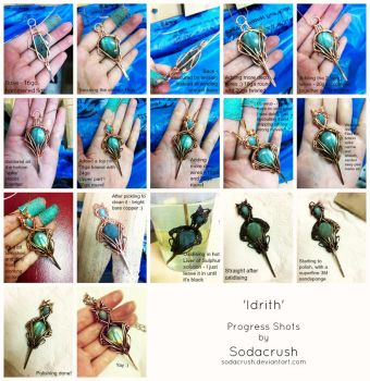 Idrith Wire Wrapped Pendant Progress by sodacrush