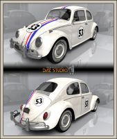 Free 3D Add-On For Volkswagen Beetle 1963: Herbie by DecanAndersen