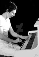 Piano Man Matt Bellamy by ariesleovirgo