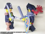 Papercraft Pirate captain vs. Black Knight by ninjatoespapercraft