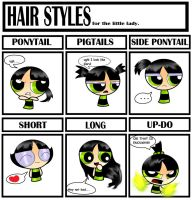 Buttercup's hair styles by xXBloody-MagicXx