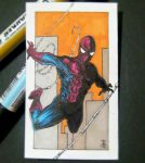 spiderman sketch card by rehAlone