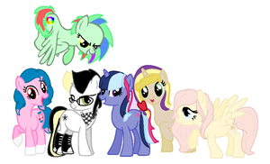 The Mane 6 Children: The New Elements by ShellyCake