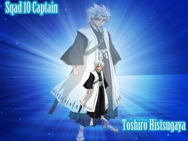 toshiro hitsugaya captain of squad 10 by laila549