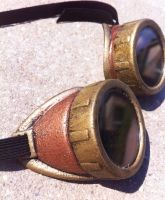 Basic Steampunk or Cybergoth Goggles by SteaMiscellania