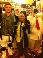 Soma and Chris Redfield(LouisiANIME 2013) by Hound-02