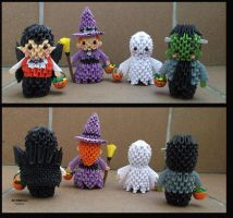 3d origami: Trick or treat by sombra33