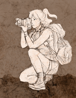 Photographer Sketch by Ornithogale