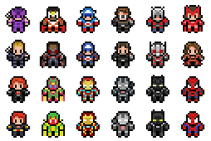 Captain America: Civil War Sprites by Hazard-House