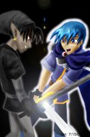 Marth Vs Dark Link by inkchocobo
