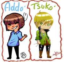 Art Trade   Gender Bender   Adelissa and Tsuka by x-Tsuka-x