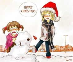merry christmas 2009 by Evangeline-chan