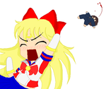 Sailor V Punches Kenichi by powerpuffgirlsz
