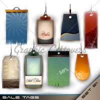 Set Of Blank Tags Of Different by kingofvectors