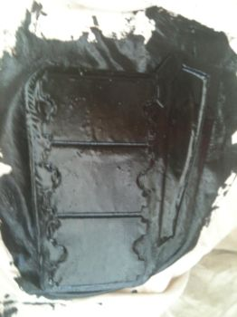Armour Panel - covered in roofing rubber by dicewarrior