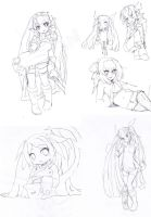 right handed doodles by Girutea