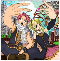 Fairy Tail Chapter 134 Cover - Natsu and Lucy by lostmementos
