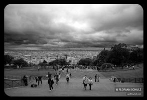view from montmatre by fL0urish
