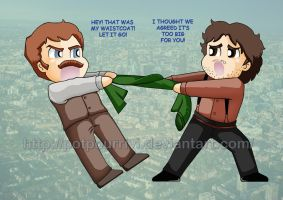 Chibi Holmes and Watson by potpourriVI